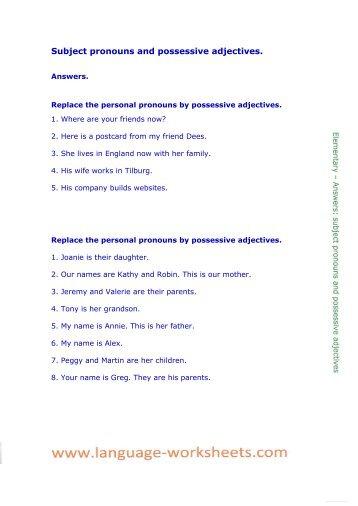 Object Pronouns | Pronoun Worksheets
