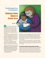 Challenging Our Assumptions: Helping a Baby Adjust to Center Care