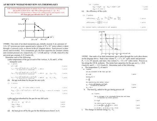 15 AP FR Quiz 15 Review Key