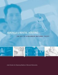 America's Rental Housing: The key to a Balance - Joint Center for ...
