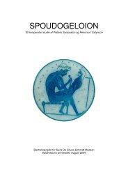 Spoudogeloion. Et komparativt studie af Platons Symposion og