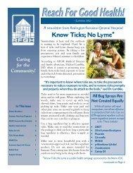 Summer 2012 Newsletter - Redington-Fairview General Hospital