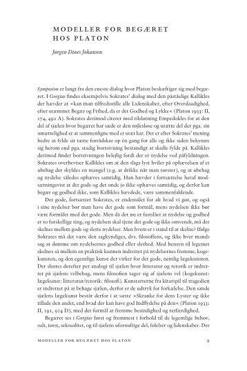Modeller for begæret hos Platon