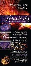 presents Billing Aquadrome saturday 3rd november 2012 Make your ...