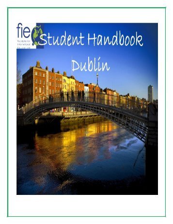Spring 2013 STUDENT HANDBOOK - Foundation for International ...