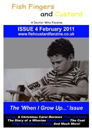 an unearthly child: 2010 ad - Fish Fingers and Custard Fanzine