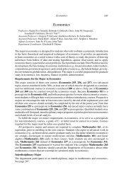Economics Course Catalogue