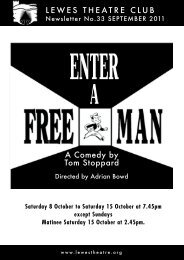 September 2011: Enter a Free Man - Lewes Little Theatre