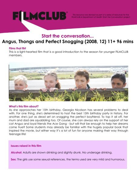 angus thongs and perfect snogging full movie download