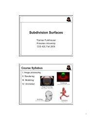 Subdivision Surfaces - Princeton University
