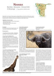 NAMIВIA Namibia - Botswana - Victoria Falls 16 Reisetage