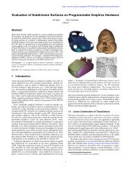 Evaluation of Subdivision Surfaces on Programmable Graphics ...