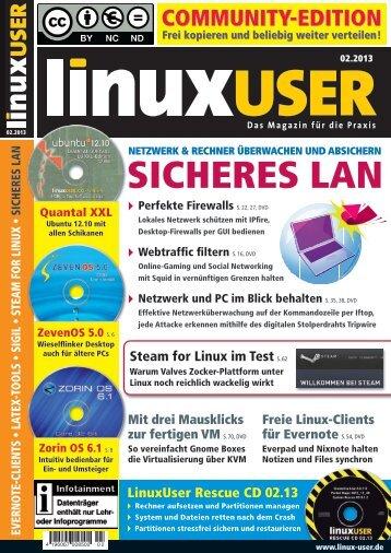 Ausgabe 02/2013 jetzt herunterladen - Linux User