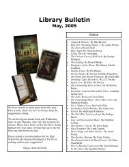 Library Bulletin -May 2005 PDF - Saint Ann's School