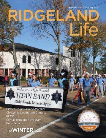 the WINTER issue - The City of Ridgeland