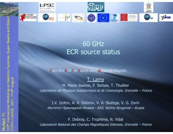 60 GHz ECR source status