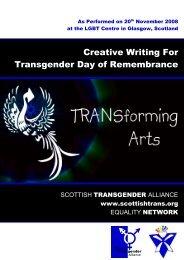 Transgender Day of Remembrance - Scottish Transgender Alliance