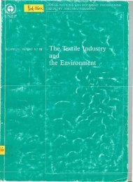 Contributor, The Textile Industry and the Environment, UNEP