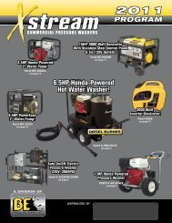 Commercial pressure washers - Equipements Delfosse