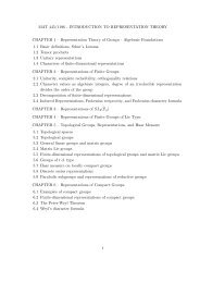 MAT 445/1196 - INTRODUCTION TO REPRESENTATION THEORY ...