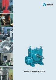 Modular Series Worm Gearbox - Premium Transmission Limited