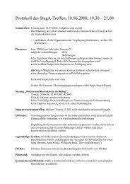Protokoll StugA Treffen 18.06.08 - StugA Geowissenschaften der ...