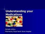 Understanding your Medications