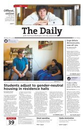 Students adjust to gender-neutral housing in residence ... - The Daily