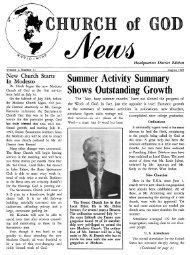 COG News Pasadena 1965 (Vol 01 No 11 - Herbert W. Armstrong ...