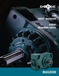 2009 DODGE® MAGNAGEAR GEARING ENGINEERING CATALOG