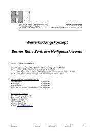 Weiterbildungskon-ept Berner Reha 4entrum Heiligenschwendi