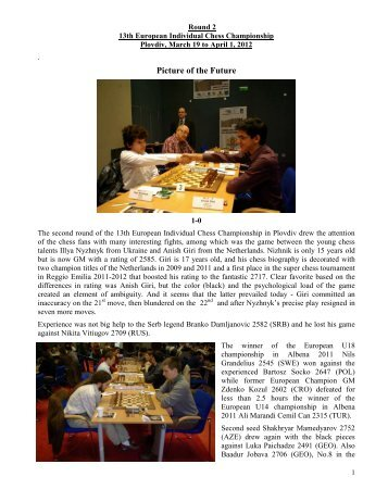 Picture of the Future - European Individual Chess Championship