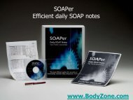 SOAPer Efficient daily SOAP notes www.BodyZone.com