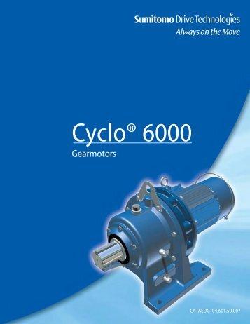 Cyclo 6000 Gearmotor Complete Catalog - Sumitomo Drive ...