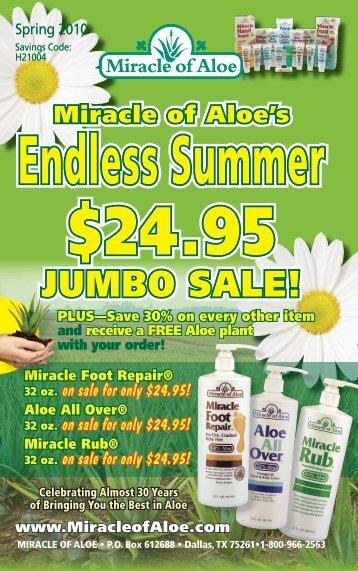 JUMBO SALE! - Miracle of Aloe