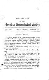 Hawaiian Entomological Society - ScholarSpace