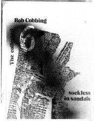Sockless in Sandals: Collected Poems of Bob Cobbing