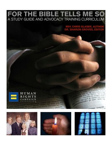 HRC Study Guide - For the Bible Tells Me So