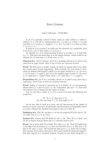 Zorn's Lemma