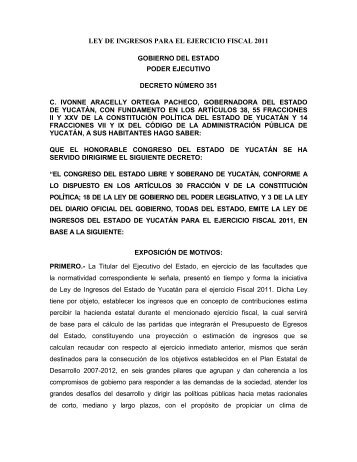 Ley de Ingresos - Agencia de Administración Fiscal de Yucatán ...