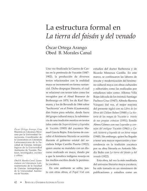 La Estructura Formal En La Tierra Del Faisán Cir Centro De