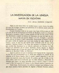 la investigación de la lengua maya en yucatan - Biblioteca Virtual de ...