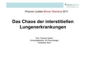 Das Chaos der interstitiellen ... - Berner Reha Zentrum