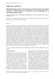 Histopathological study of the hepatic and renal toxicity associated ...