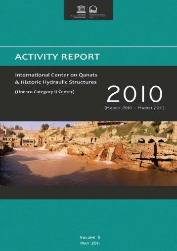 Activity Report Volume 3 - icqhs