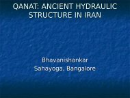 Qanat - Ancient hydraulic structure in Iran - India Water Portal