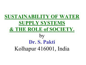 thesis water supply sustainability Rural water supply management and sustainability in ethiopia with special emphasis on water supply schemes in adama area abebe tadesse lencha.