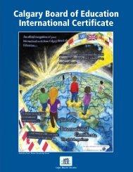 the International Certificate Brochure - Calgary Board of Education