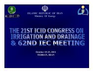 ISLAMIC REPUBLIC OF IRAN Ministry Of Energy October 15-23 ...