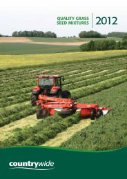 Quality Grass seed Mixtures - Countrywide Farmers